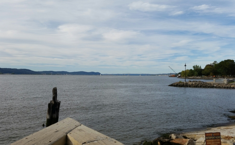 Hudson River View from Half Moon in Dobbs Ferry