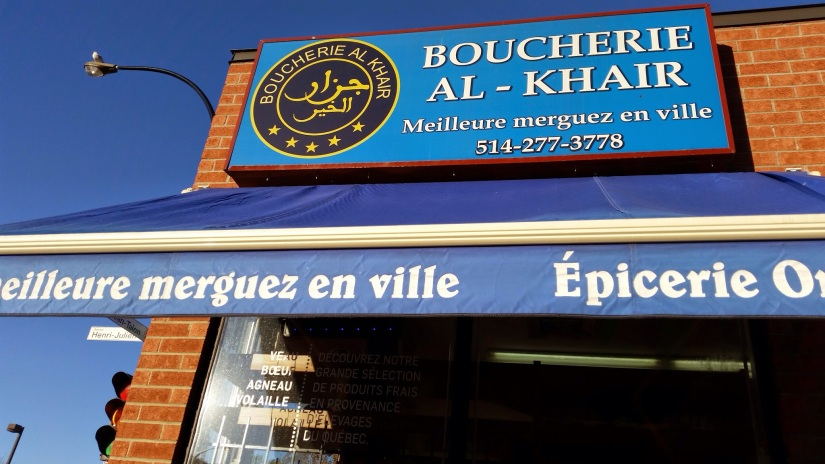 Tea, Spice, and Cheese in Marché Jean-Talon in Montreal: Boucherie Al-Khair