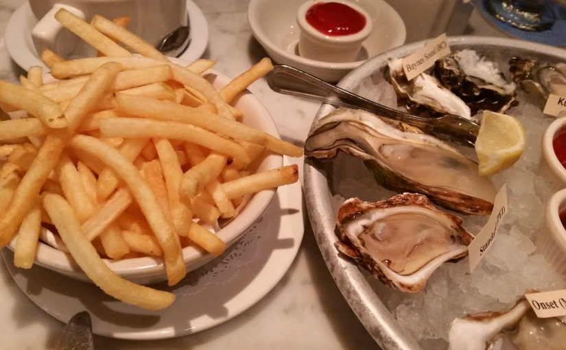 Oysters!  Elm Street Oyster House in Greenwich,CT