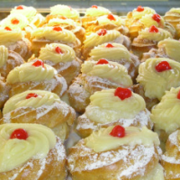 Neri's Bakery Products in Port Chester, NY- Zeppoles for St. Joseph's Day on March 19th, 2015